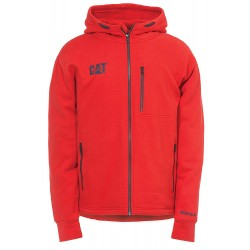 1910060RT-DROP TAIL ZIP SWEATSHIRT RED TIDE