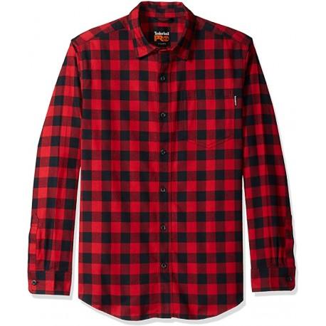 R-Vlaue Flannel Work Shirt Red