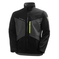 AKER SOFTSHELL BLACL/DARK GRAY GR:2XL