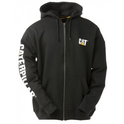 FULL ZIP HOODED SWEATSHIRT BLACK