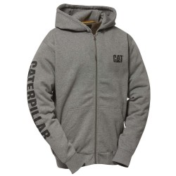 FULL ZIP HOODED SWEATSHIRT DARK HEATHER GREY