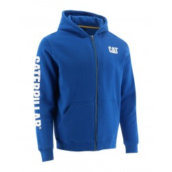 FULL ZIP HOODED SWEATSHIRT MEMPHIS BLUE