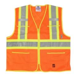 Veste de sécurité avec zipper